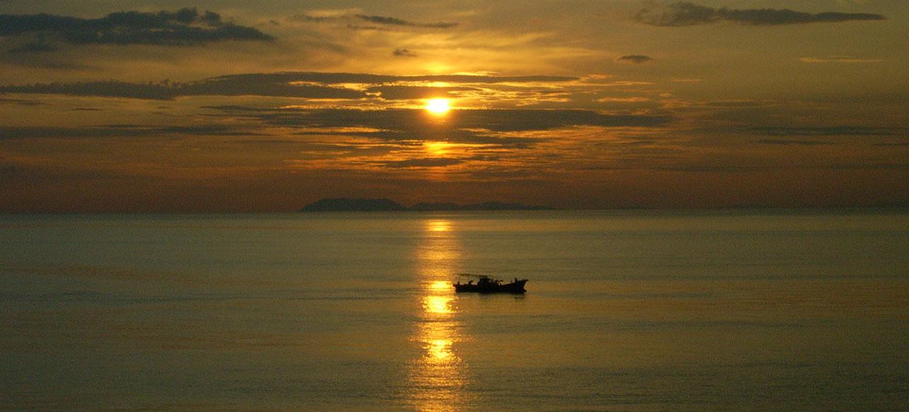愛媛県 伊予灘の夕景